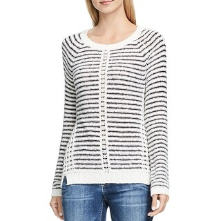 Two by Vince Camuto Womens Pullover Sweater Crinkle Yarn Striped (3 options available)