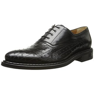 A. Testoni Mens Leather Perforated Oxfords