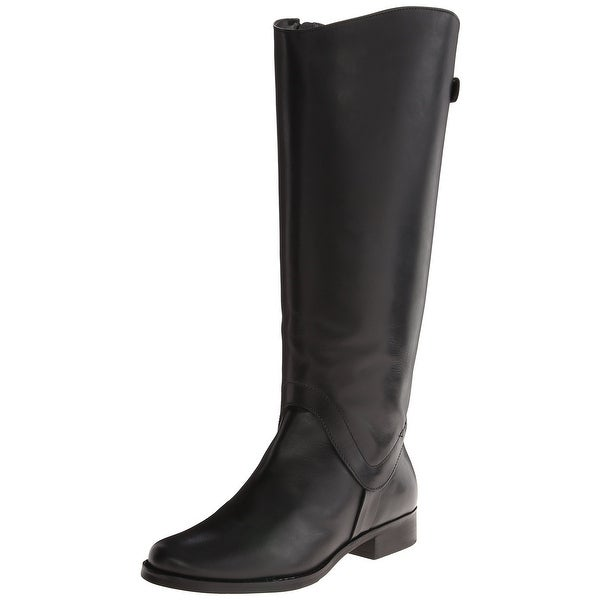 Steven By Steve Madden Black Shoes 6W Knee-High Leather Boots
