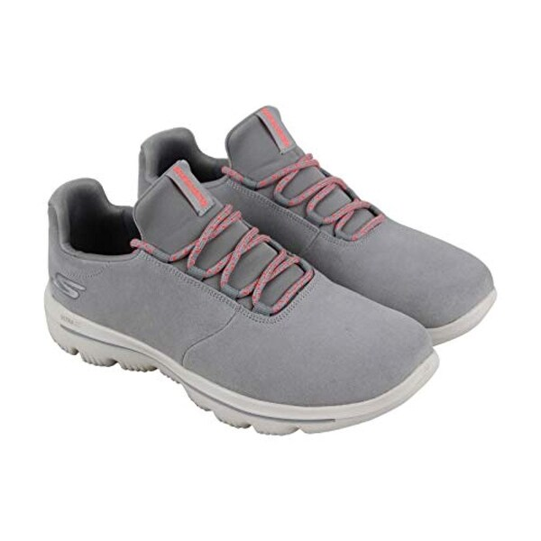 Skechers Gowalk Evolution Ultra Womens Gray Suede Athletic Running Shoes