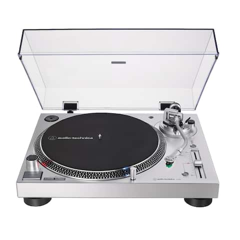 Audio-Technica AT-LP120X-USB Analog and USB Turntable (Silver)