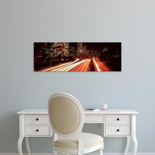 Easy Art Prints Panoramic Images's 'Skyscrapers in a city, City of Los Angeles, California, USA' Premium Canvas Art