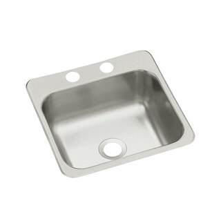 "Sterling B155-2 15"" Single Basin Drop In Stainless Steel Bar Sink with SilentShield"