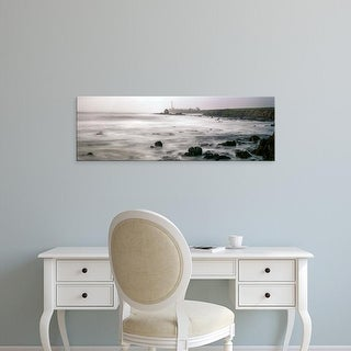Easy Art Prints Panoramic Image 'Lighthouse, Pigeon Point Light Station, Cabrillo Highway, California' Canvas Art