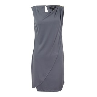 Jessica Simpson Women's Jersey Drape Sheath Dress