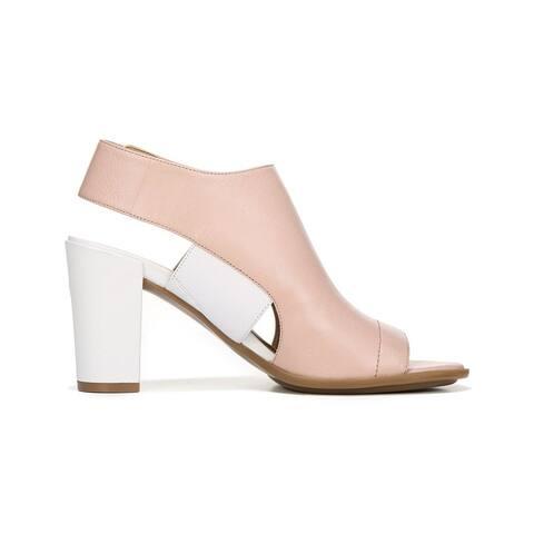 d08d79c336d9 Naturalizer Womens Zahn Leather Open Toe Casual Slingback Sandals