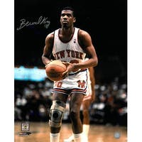 Signed Bernard King signed New York Knicks 16x20 Photo white jersey Bernard King was chosen in the