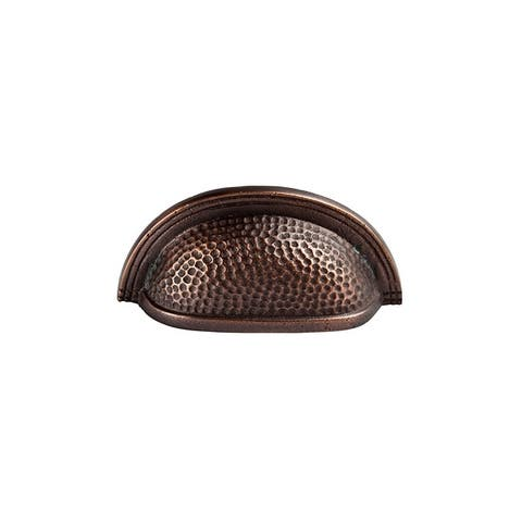 """The Copper Factory CF116 3"""" Center to Center Cup Cabinet Pull"""