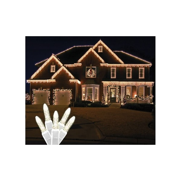 Shop Christmas At Winterland S ICM5WW IW Standard Icicle Lights M5 LED Warm White Faceted 70 Wire 22 Gauge