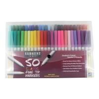 Sargent Art Marker Set Fine Tip, Assorted Colors, Set of 50