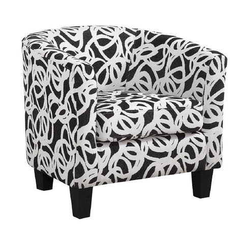 Enzo Barrel Chair Tangled White