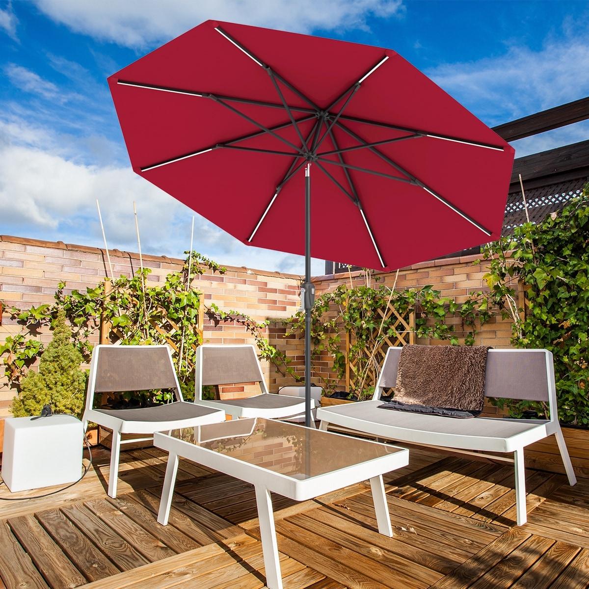 Waterproof Solar Umbrella Led Light