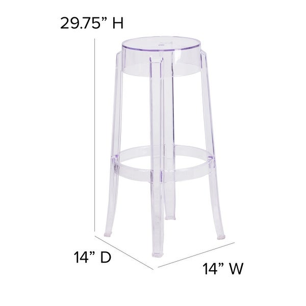 "29.75"" High Transparent Barstool - Restaurant & Bar Furniture"