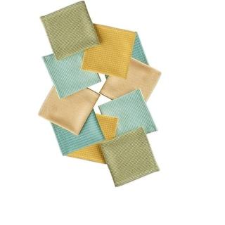 Set of 10 Multi-Colored Laguna Inspired Dish Cloth Kitchen Accessory Set