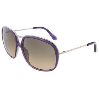 Tom Ford TF 282 78B Cori Purple/ Silver Full Rim Rectangular Sunglasses