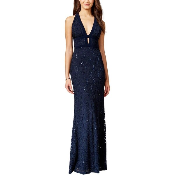 Shop B Darlin Womens Juniors Formal Dress Sleeveless Full Length
