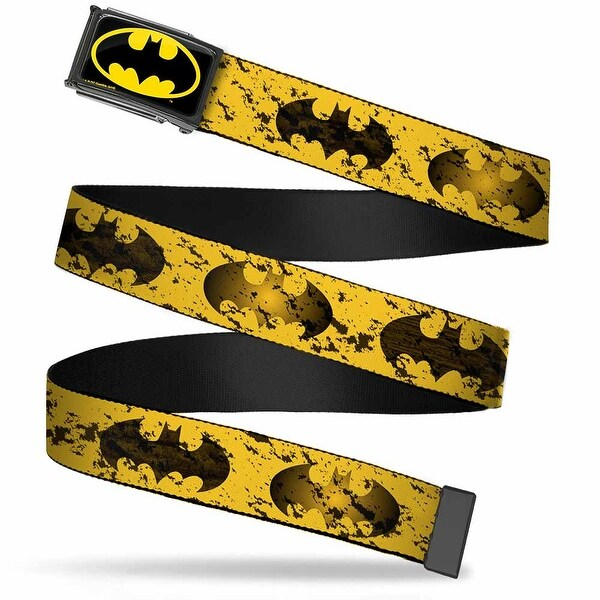 Batman Fcg Black Yellow Black Frame Bat Signal Weathered Yellow Black Web Belt