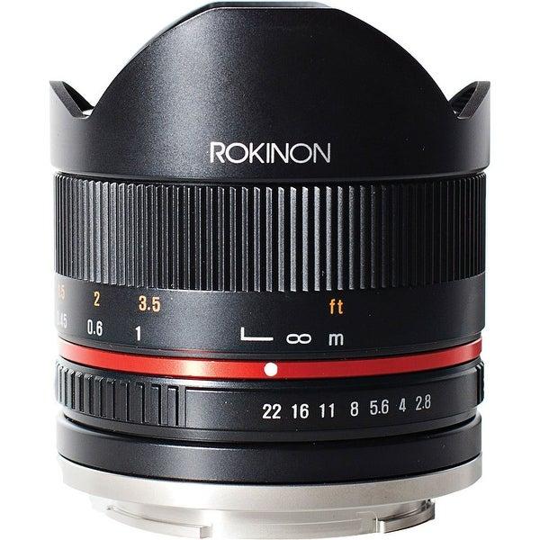 Rokinon 8mm f/2.8 UMC Fisheye II Lens for Fujifilm X Mount (Black) - Black