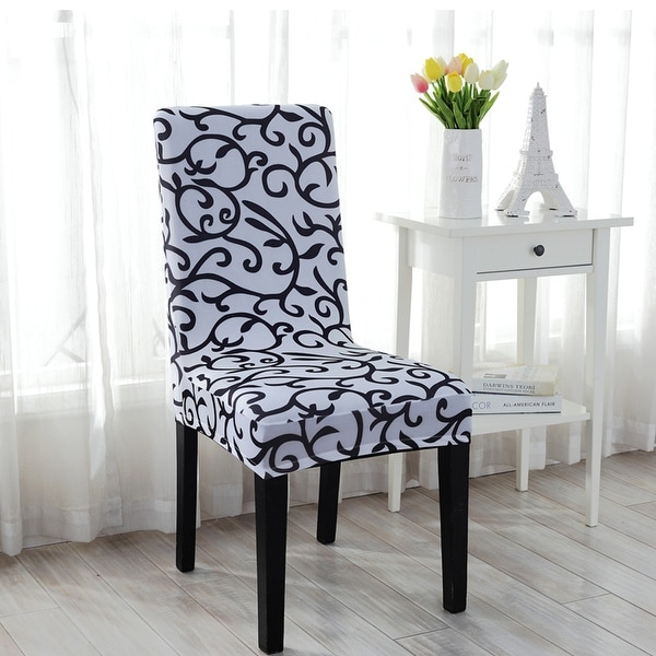 Dining Room Chair Back Covers: Shop Unique Bargains Stretch Dining Chair Cover