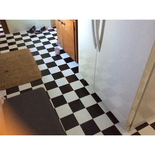 Shop Achim Nexus Black White X Self Adhesive Vinyl Floor Tile - 16x16 tiles square feet