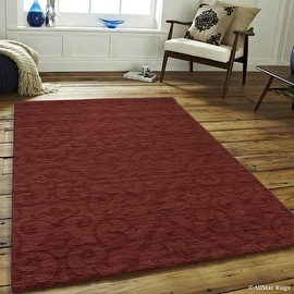 """Allstar Brick Area Rug. Hand Made High-End Extra Soft Natural Wool with Hand Craving Designs (4' 11"""" x 7')"""