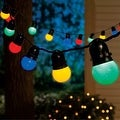 Celebrations 42051-71 LED Globe Light Set, Multicolored, 50 lights, 24-1/2' - Thumbnail 0