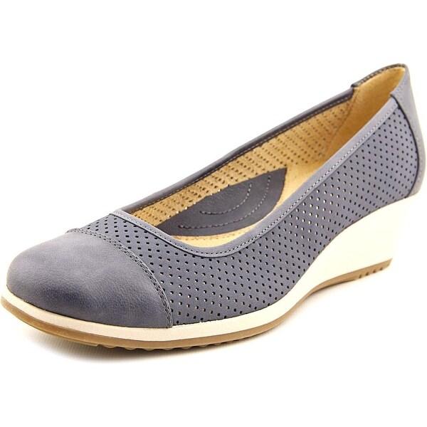 Naturalizer Bartow Women Open Toe Synthetic Blue Wedge Heel