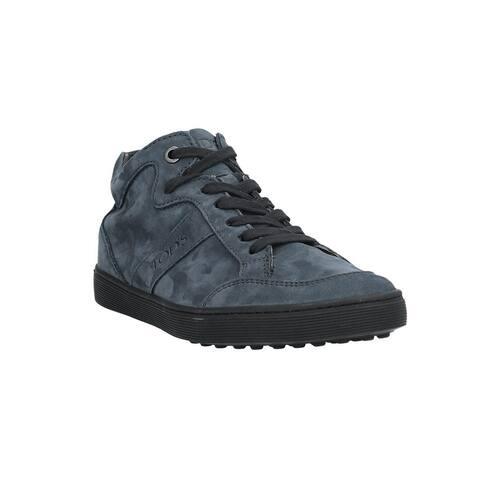 Tod's Women's Leather Suede Low Top Sneakers Dark Petrol
