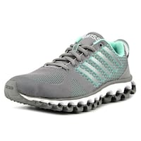 K-Swiss X-180 EM CMF Women  Round Toe Canvas Gray Tennis Shoe