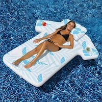 """68"""" Inflatable Swimming Pool Cabana Shirt Tropical Float - Blue"""