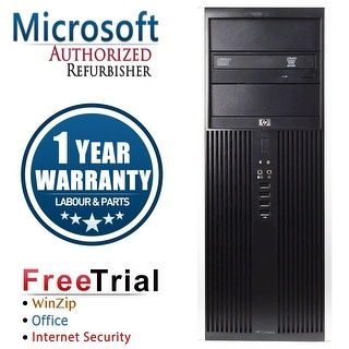 Refurbished HP Compaq 8100 Elite Tower Intel Core I5 650 3.2G 8G DDR3 1TB DVD Win 7 Pro 64 1 Year Warranty - Black