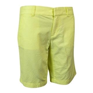 Tommy Hilfiger Women's Textured Dot Bermuda Shorts