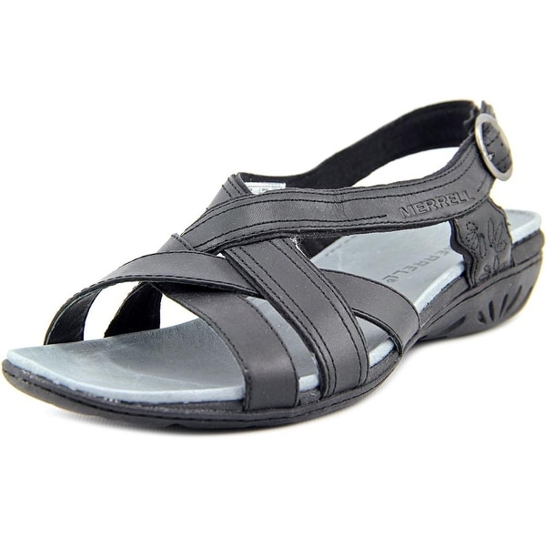 ea23ff3cb51d Shop Merrell Bassoon Black Sandals - Free Shipping Today - Overstock ...