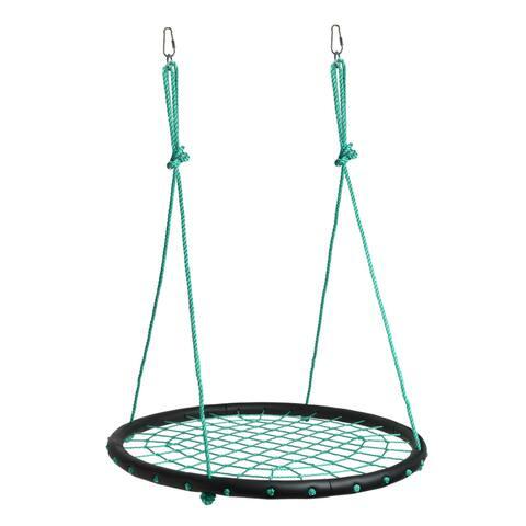 Children Web Swing Playground Platform Net Swing Nylon Rope Detachable with Hooks - Blue - SIZE