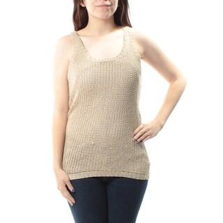 $90 RALPH LAUREN New Womens 1026 Beige Scoop Neck Sleeveless Sweater L B+B