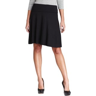 Three Dots Womens A-Line Skirt Jersey Fold-Over