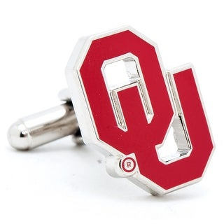 Silver Plated Oklahoma University Sooners Cufflinks