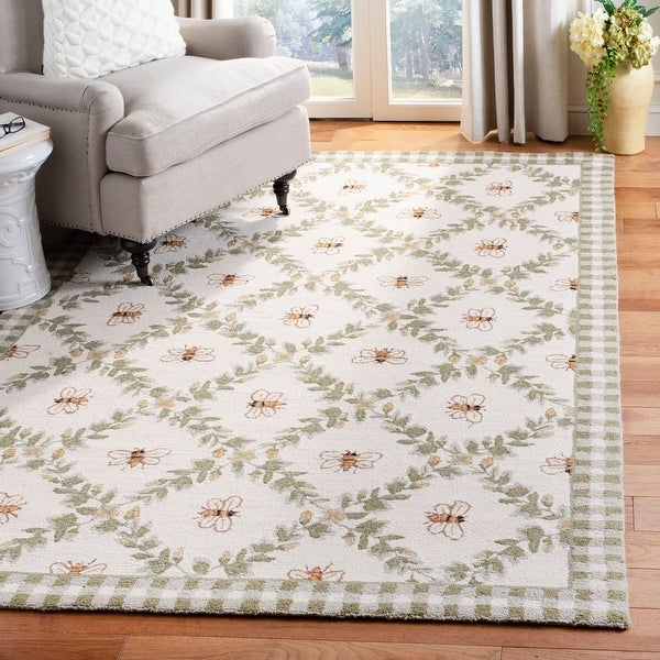 Safavieh Hand-hooked Chelsea Aubree Country Oriental Wool Rug. Opens flyout.