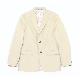 Tasso Elba NEW Washed Khaki Beige Mens Size Large L Two Button Blazer