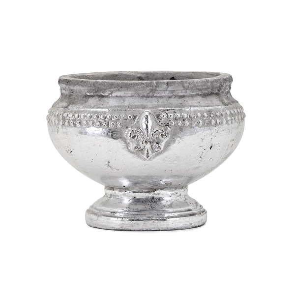 IMAX Home 41013 Tawnee Small Ceramic Vase - Silver
