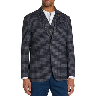Link to Tallia Sport Mens Sportcoat Houndstooth Blazer - Navy/Gray - M Similar Items in Sportcoats & Blazers