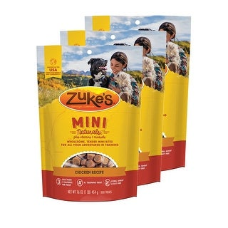 Link to Zuke's  Mini Naturals Chicken Recipe 16 oz Dog Treats 3 Pack Similar Items in Dog Food & Treats