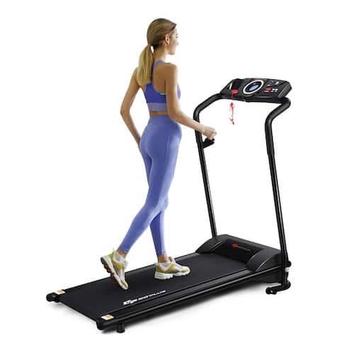 Goplus 1HP Electric Treadmill Folding Motorized Power Running Machine - 46'' x20'' x43''(L x W x H)
