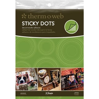 Sticky Dot Die-Cut Adhesive Sheets