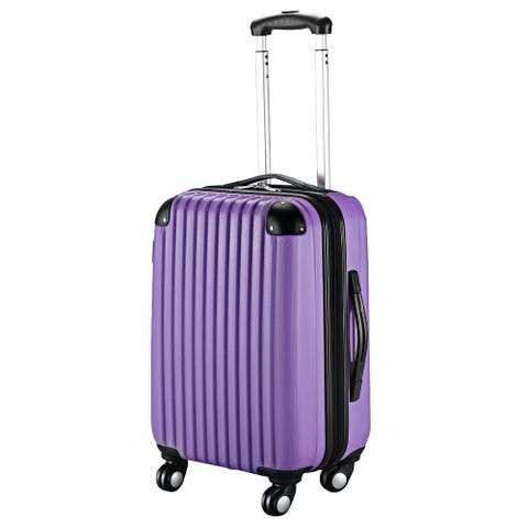 """GLOBALWAY 20"""" ABS Carry On Luggage Travel Bag Trolley Suitcase 8 color"""