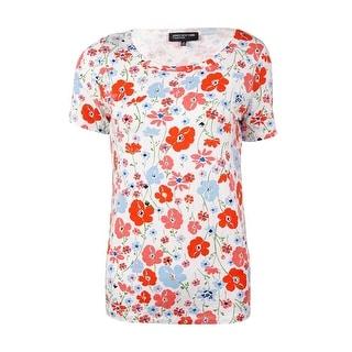 Jones New York Women's Floral Short Sleeves Knit Tee - s