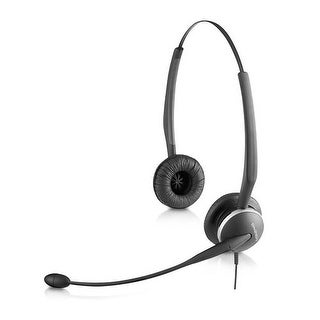 Jabra GN2125 Duo Corded Headset 01-0247 for Desk Phones, with PeakStop Technology