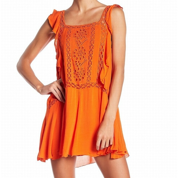 2b801b4c11a Shop Free People Orange Priscilla Embroidered Women Small S Shift Dress -  Free Shipping Today - Overstock - 27983987