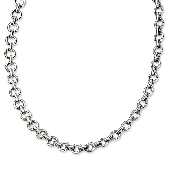 Chisel Stainless Steel Polished Links 20 Inch Necklace (9 mm) - 20 in