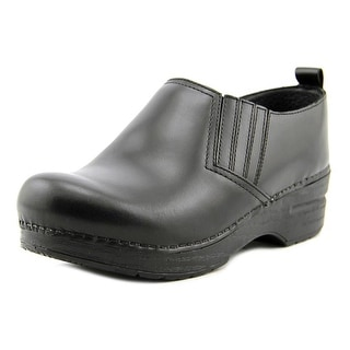 Dansko Piet Cabrio Women Round Toe Leather Black Clogs